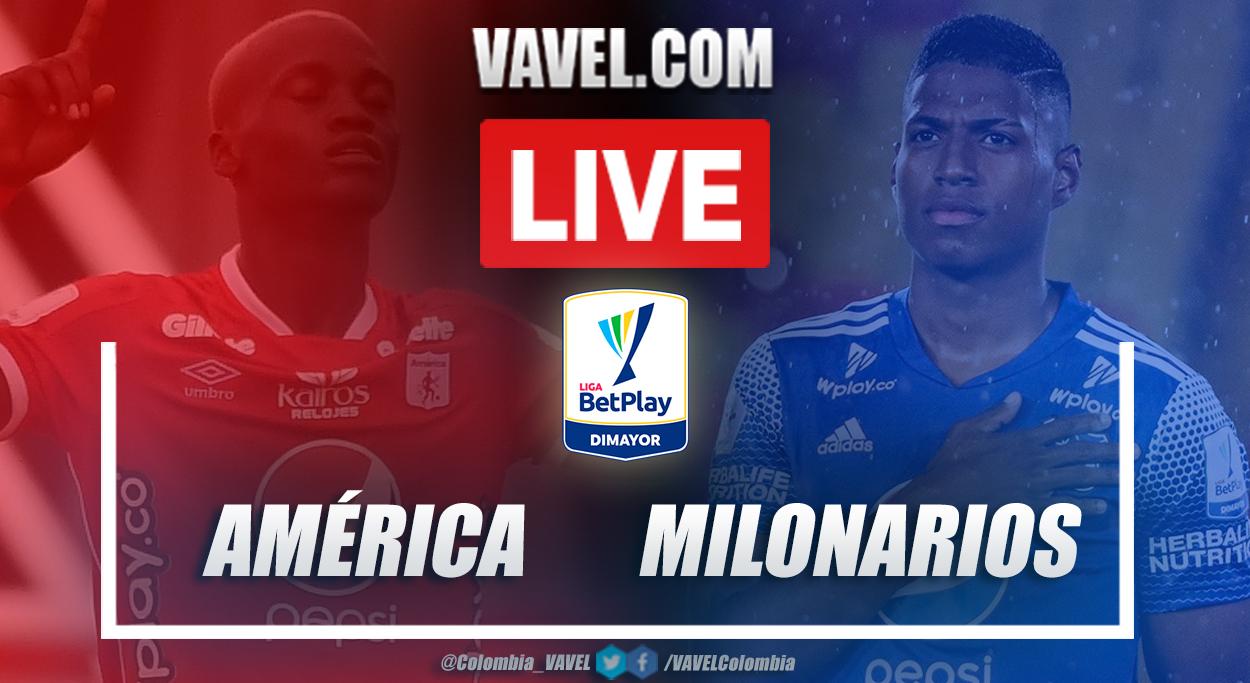 América de Cali vs Millonarios (2-1) en la fecha 16 por Liga BetPlay 2021-I