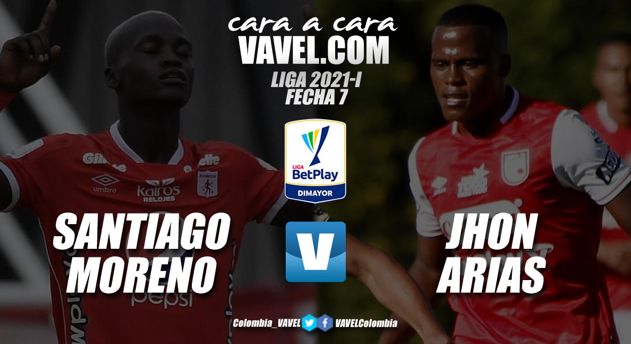 Cara a cara: Santiago Moreno vs. Jhon Arias