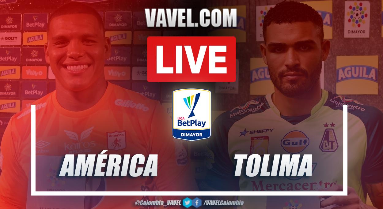 Resumen América vs Tolima (2-0) en la fecha 19 por Liga BetPlay 2021-I