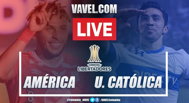 Resumen: América de Cali vs Universidad Católica (1-1) por Copa Libertadores