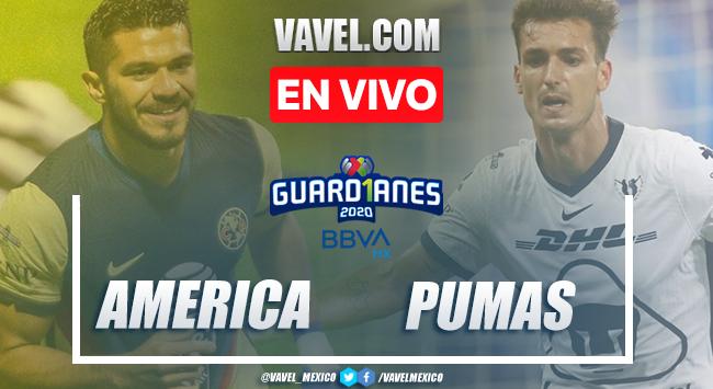 Goles y resumen del clásico capitalino: América 2-2 Pumas en Guard1anes 2020