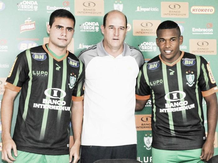 Eduardo e Alan Mineiro são apresentados oficialmente como novos reforços do América-MG