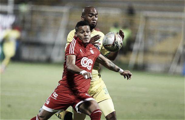 Bucaramanga ganaba 2-0 y América lo empató en 180 segundos