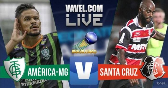 Resultado América-MG x Santa Cruz na Série A do Campeonato Brasileiro (0-3)