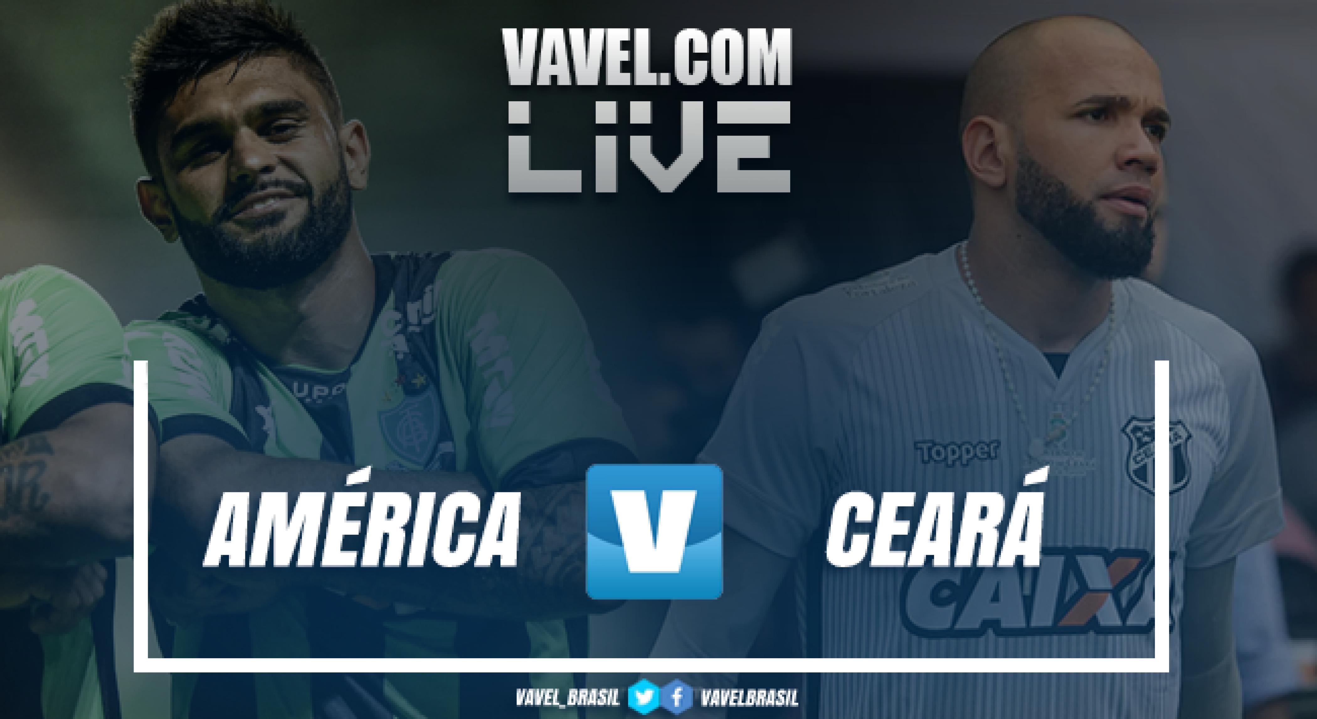 Resultado América-MG 0 x 0 Ceará pelo Campeonato Brasileiro 2018