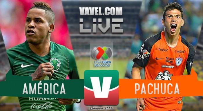 Resultado y goles del América 2-3 Pachuca de la Liga MX 2017