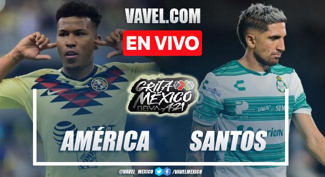Goles y resumen del Améerica 2-1 Santos en Liga MX 2021