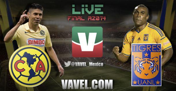 Resultado América - Tigres en Liga MX 2014 (3-0)