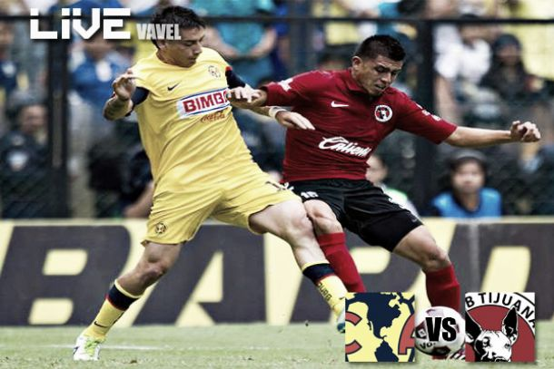 Resultado América - Xolos de Tijuana en Liga MX 2014 (2-1)