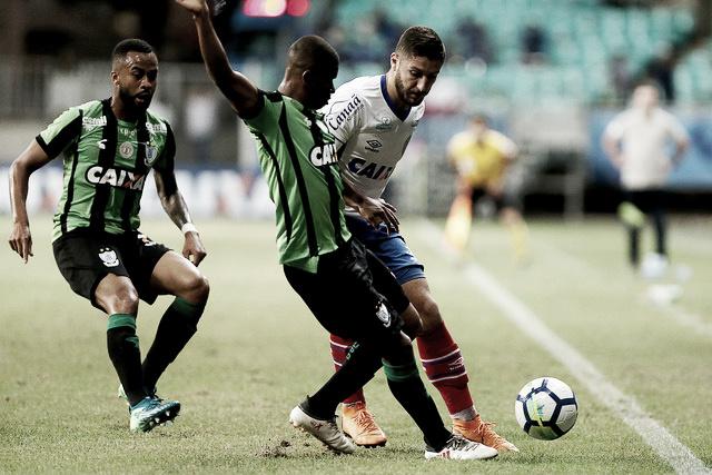 América-MG enfrenta Bahia pressionado na luta pela permanência