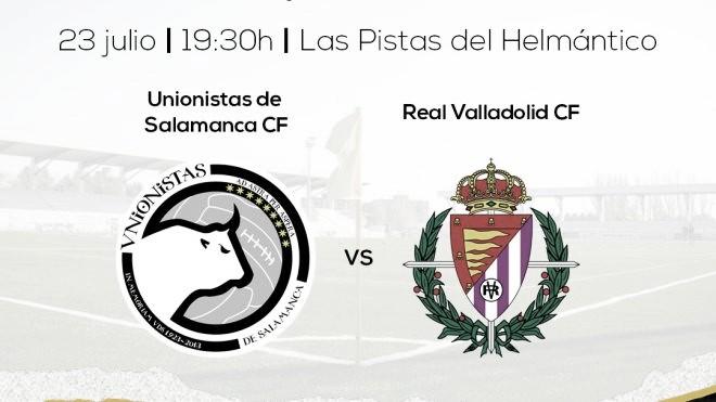 Unionistas de Salamanca jugará un amistoso contra el Real Valladolid en… Las Pistas del Helmántico