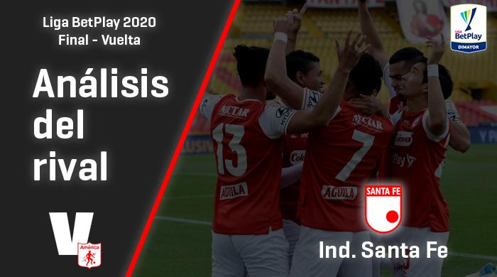 América de Cali, análisis del rival: Santa Fe (Final - ida, Liga 2020)
