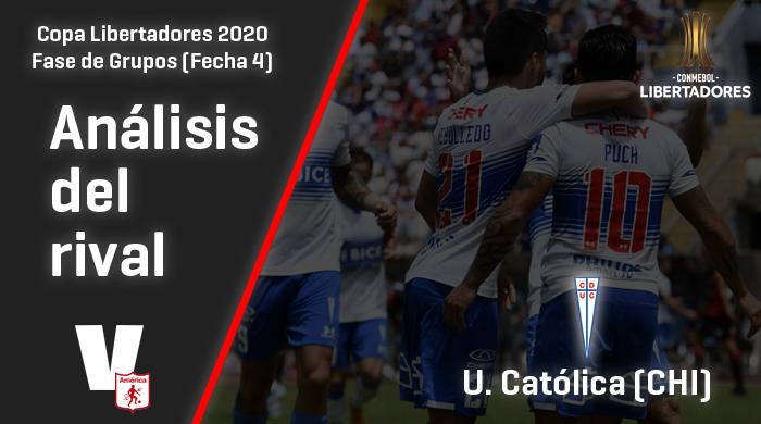 América de Cali, análisis del rival: Universidad Católica (Fecha 4, Copa Libertadores)