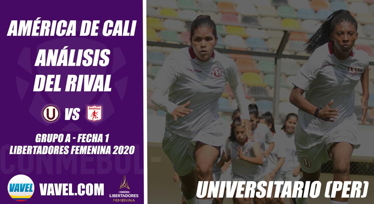 América de Cali, análisis del rival: Universitario (Fecha 1, Libertadores Femenina 2020)