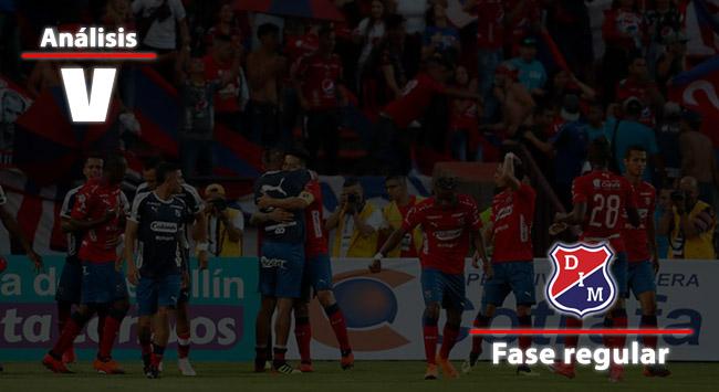 Rendimiento del Independiente Medellín en el todos contra todos de la Liga Águila 2018-II
