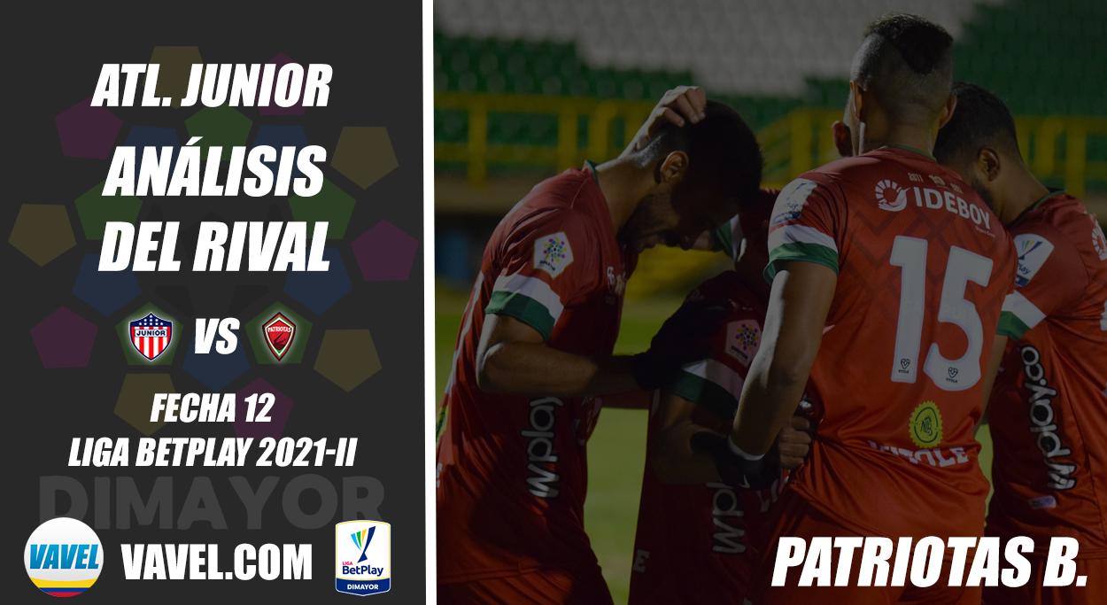 Junior de Barranquilla, análisis del rival: Patriotas Boyacá (Fecha 12, Liga 2021-II)
