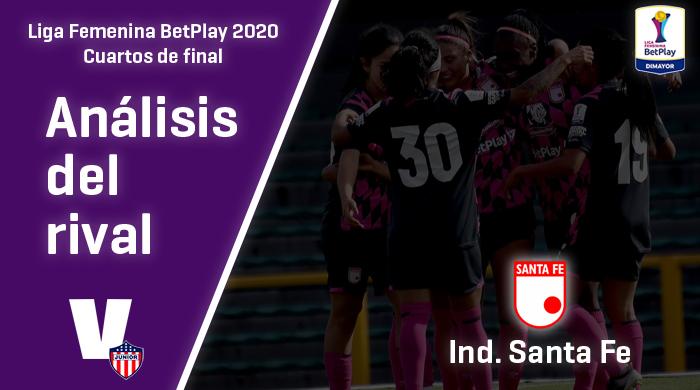 Junior, análisis del rival: Independiente Santa Fe (Cuartos de final, Liga Femenina 2020)