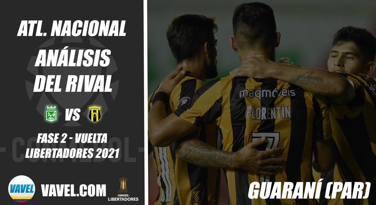Atlético Nacional, análisis del rival:Club Guaraní (Fase 2 - vuelta, Libertadores 2021)