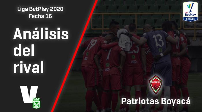 Atlético Nacional, análisis del rival: Patriotas Boyacá (Fecha 16, Liga 2020)