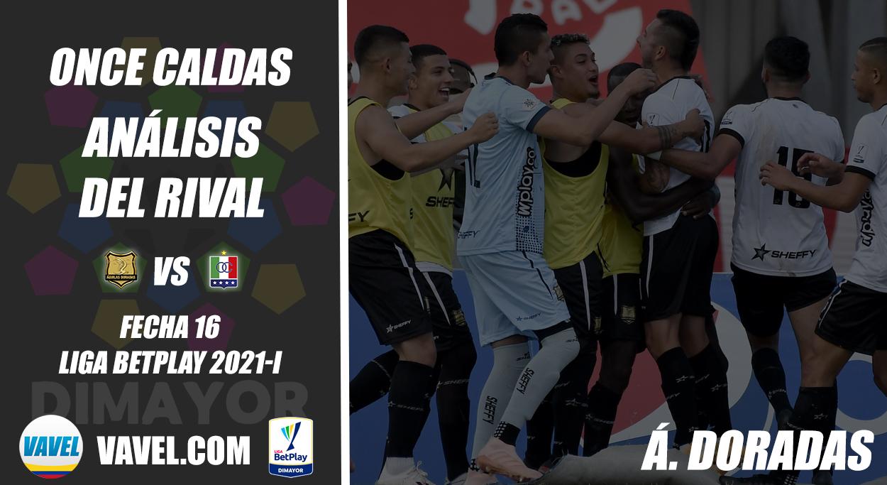 Once Caldas, análisis del rival: Águilas Doradas (Fecha 16, Liga 2021-I)
