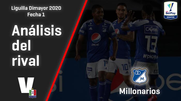 Once Caldas, análisis del rival: Millonarios (Fecha 1, Liguilla Dimayor)
