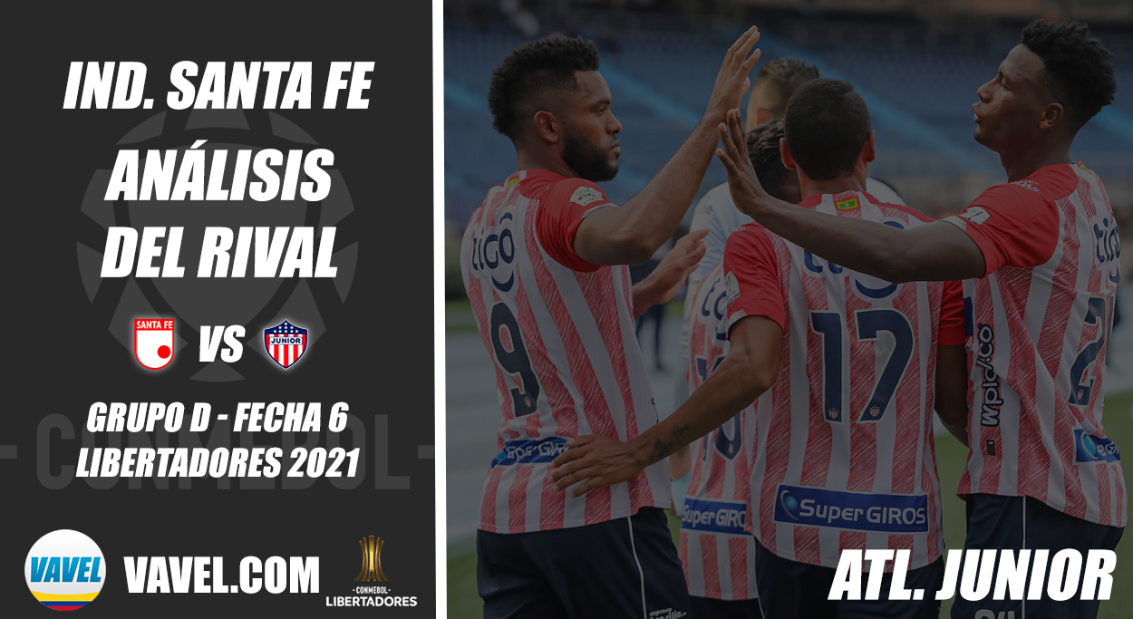 Independiente Santa Fe, análisis del rival: Junior (Fecha 6 - Grupo D, Libertadores 2021)