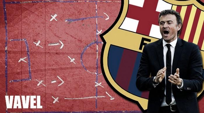 La pizarra de Luis Enrique: dominio total del Barç ...