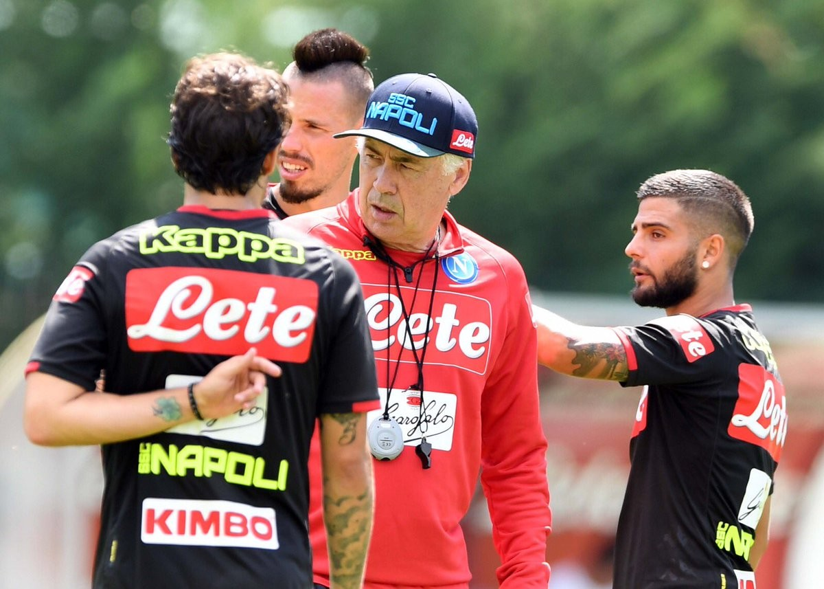 Napoli, tra sogni di mezza estate e ritiro: Ancelotti prepara la sfida al Carpi