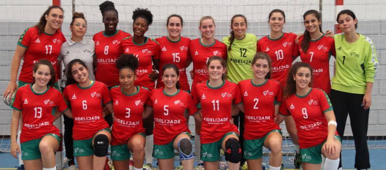 Equipa de Sub-17 andebol feminino entra a vencer para o Europeu