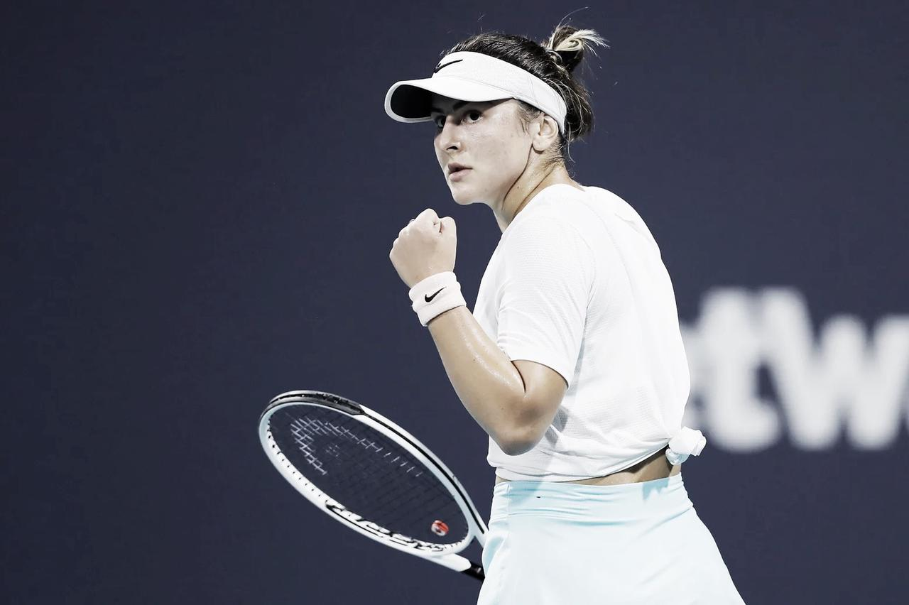 Andreescu vence batalha com Sorribes Tormo e alcança semifinal inédita em Miami