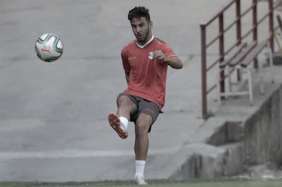 Andrés Martín, expulsado en el partido ante el Borussia Mönchengladbach