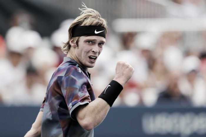 US Open: Andrey Rublev produces spirited display to shock seventh seed Grigor Dimitrov