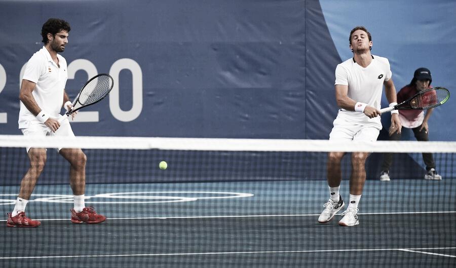 La experiencia castiga a los españoles en el dobles en tenis