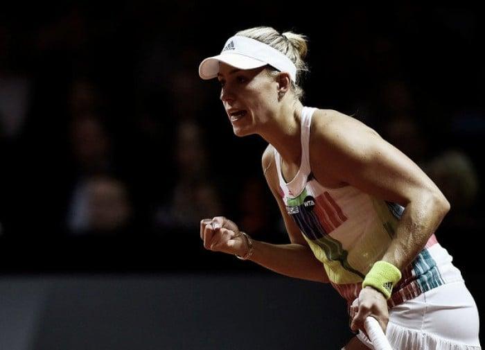 WTA Stuttgart: Angelique Kerber prevails against Petra Kvitova in three-set thriller