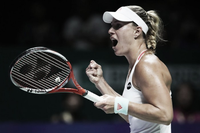 "WTA Finals: Angelique Kerber ""really happy"" to survive thrilling opener against Dominika Cibulkova"