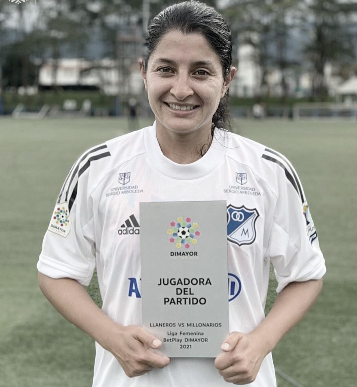 Angie Valbuena, le dio la victoria a Millonarios Femenino