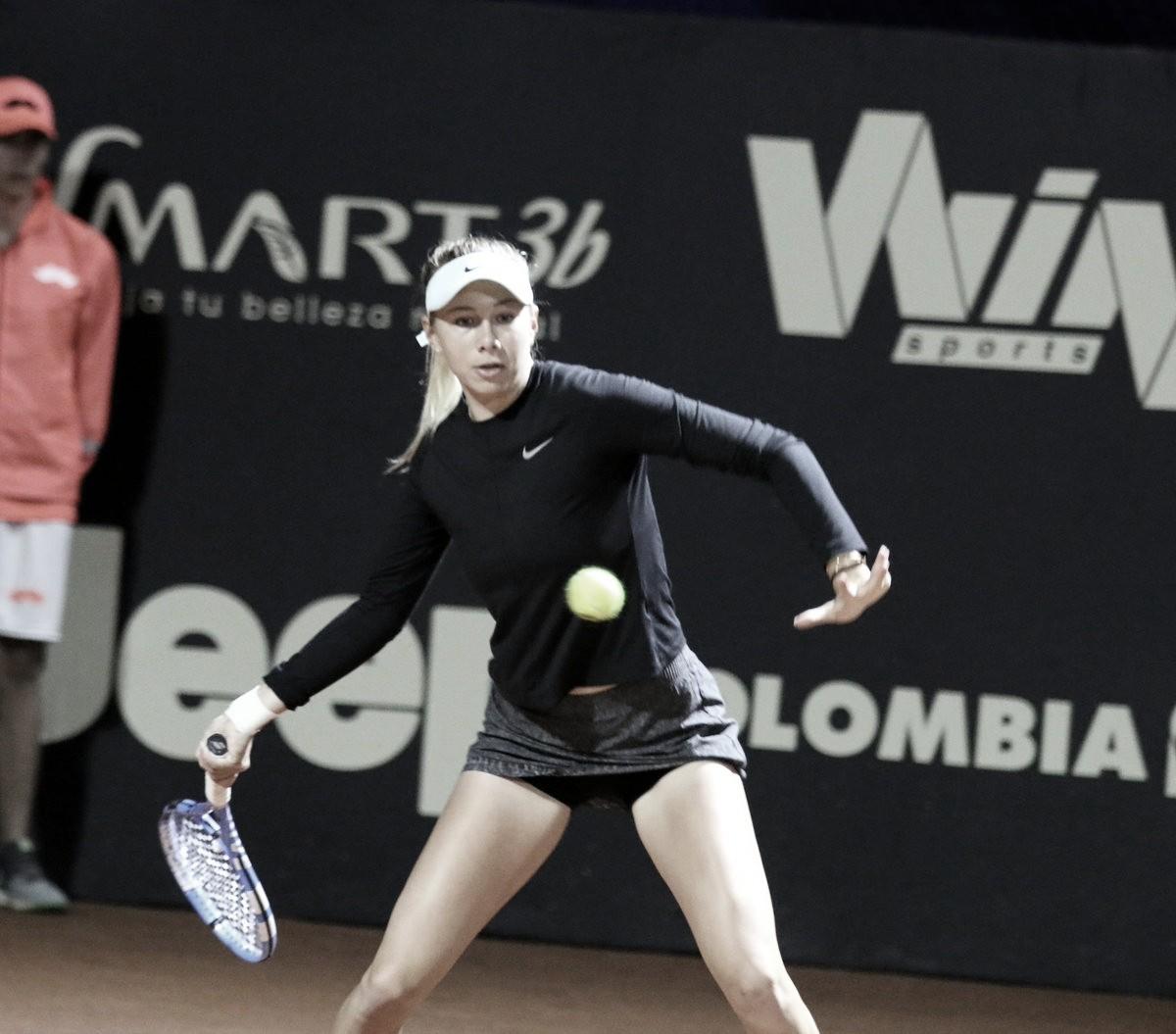 Anisimova vira para cima de Lisicki e vai à segunda rodada em Bogotá