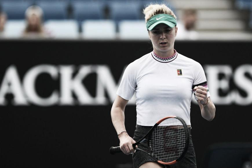 Svitolina arrasa Golubic em sua estreia no Australian Open