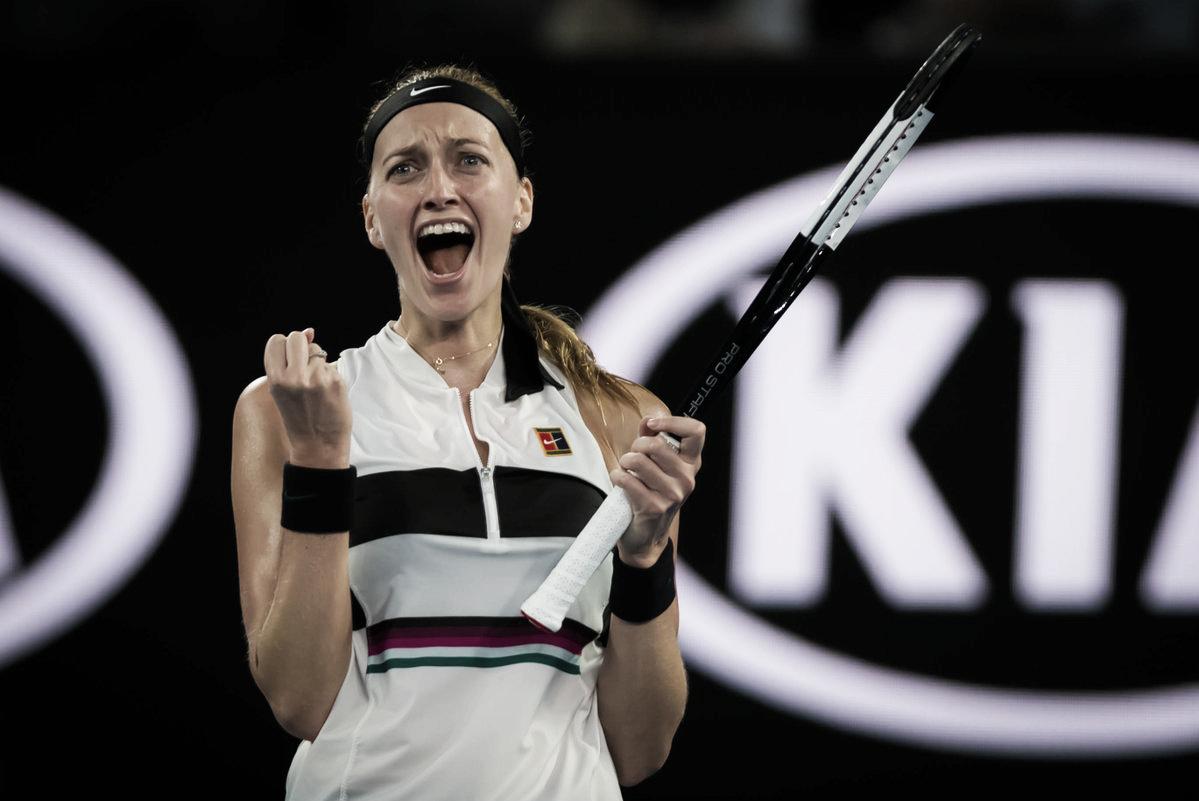 Kvitova acaba com empolgação de Collins e vai pela primeira vez à final em Melbourne