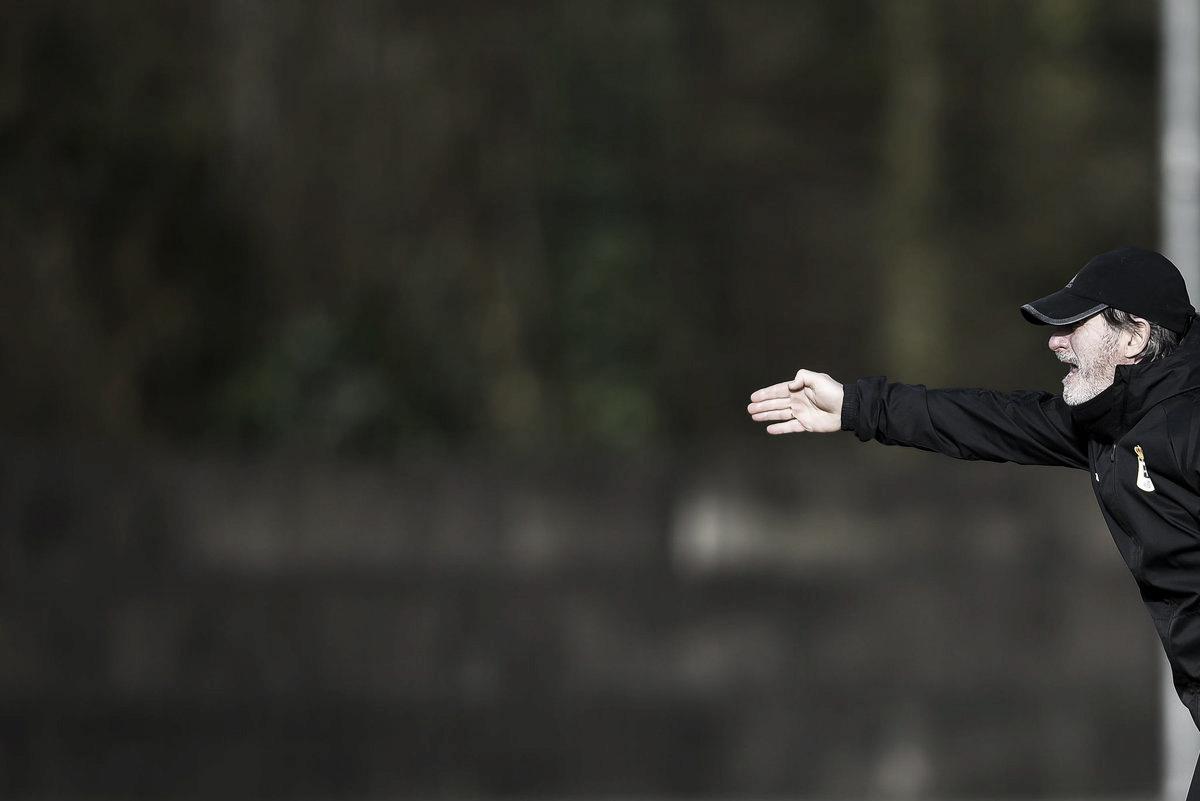 Juan Antonio Anquela se muestra optimista para el partido ante el Extremadura