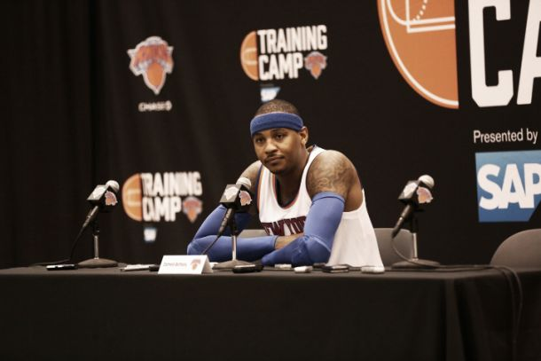 "Carmelo Anthony: ""Quiero aprender de Phil Jackson y Derek Fisher"""
