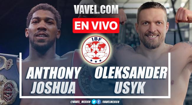 Resumen y mejores momentos de la pelea Anthony Joshua vs Oleksandr Usyk