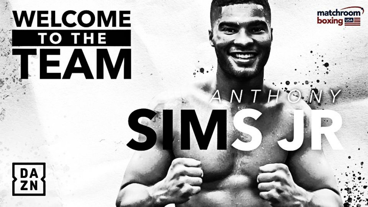 El invicto Anthony Sims Jr. firma con Matchroom Boxing