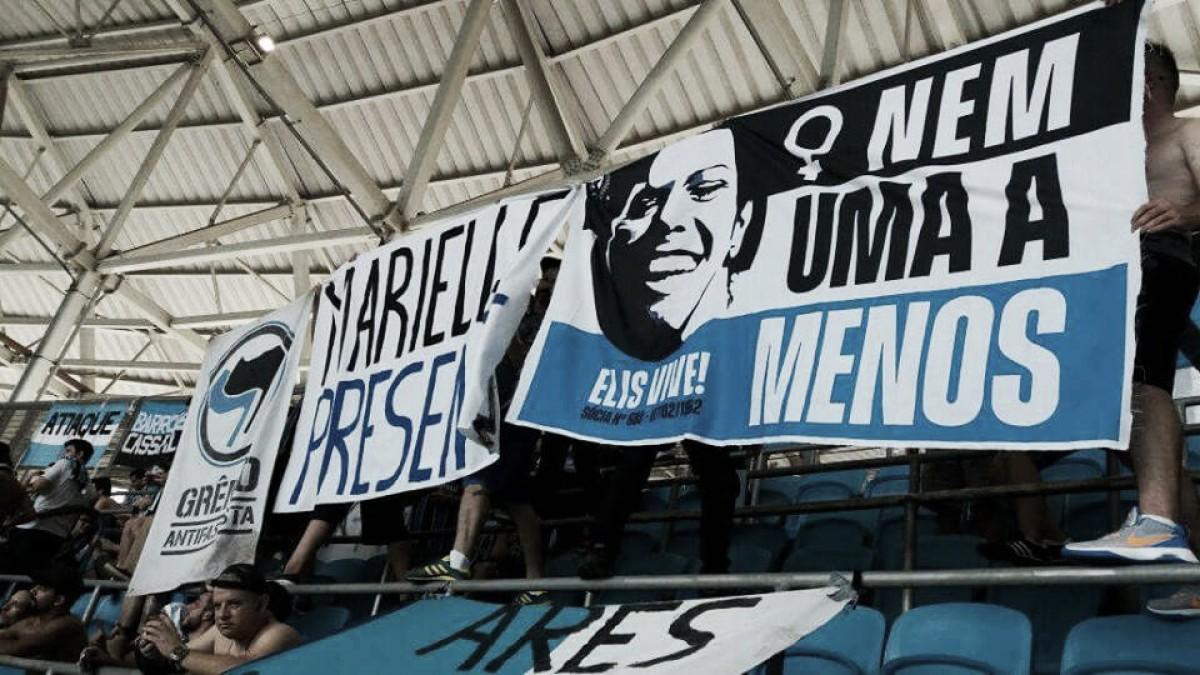 """Movimento gremista opina sobre censura em ato por Marielle: """"A voz do futebol pertence ao povo"""""""