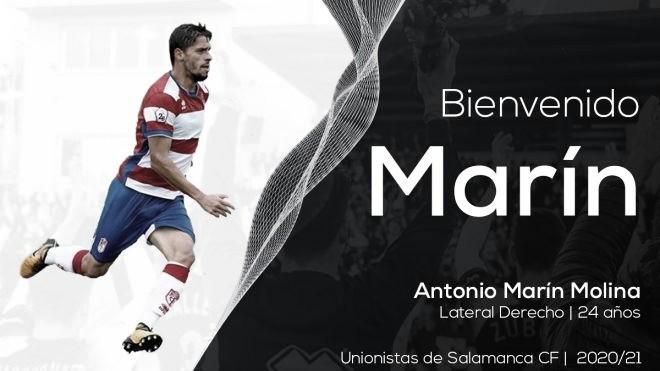 Antonio Marín se convierte en el primer fichaje de Unionistas