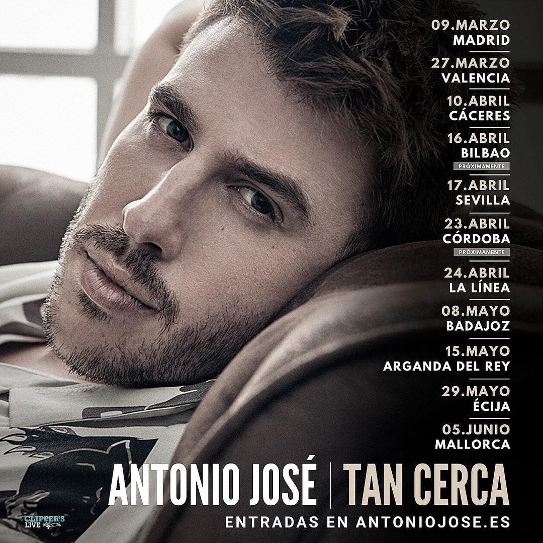 """Antonio José retoma su gira """"Tan Cerca"""" en Madrid"""