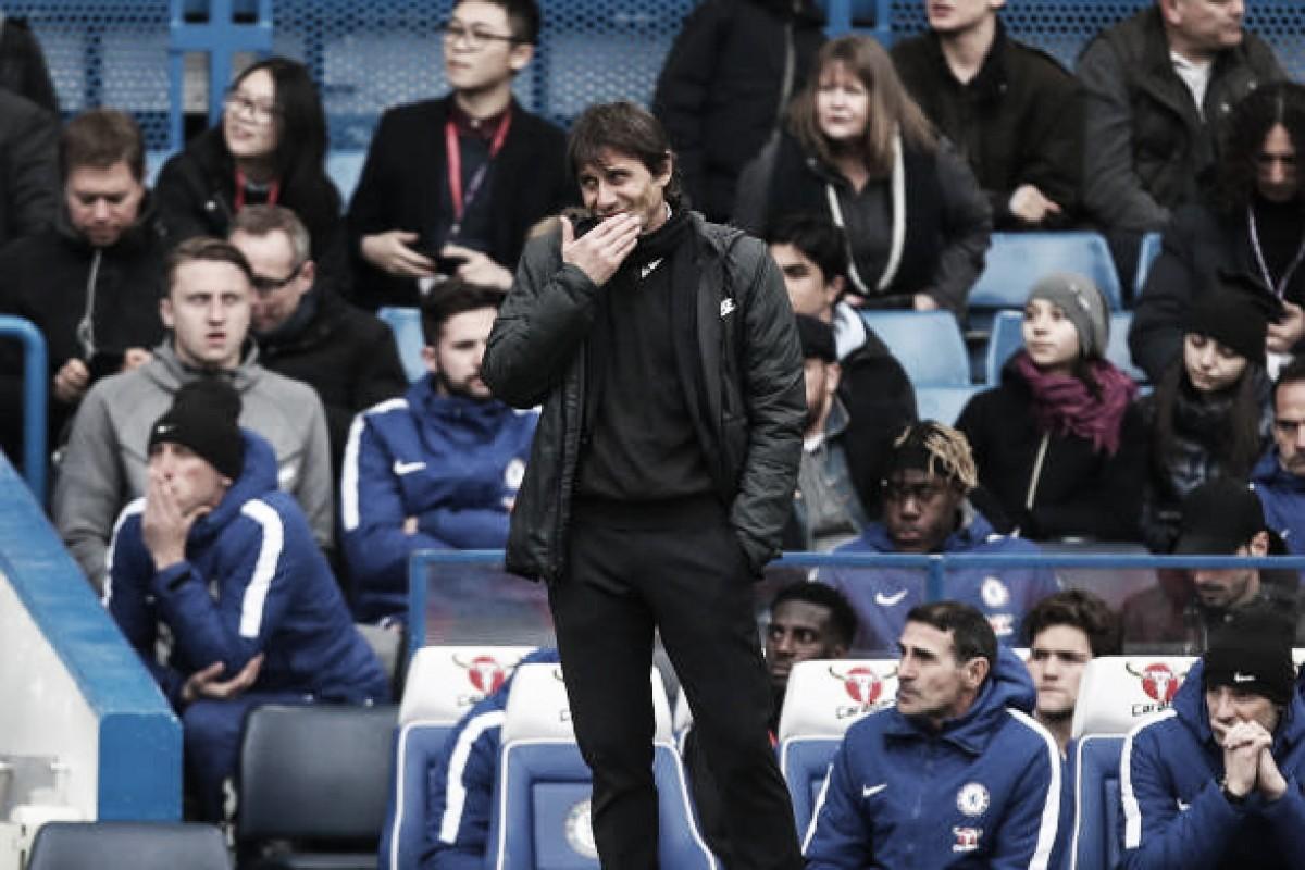 """Conte expressa decepção com novo tropeço do Chelsea: """"Tem que ganhar esse jogo"""""""
