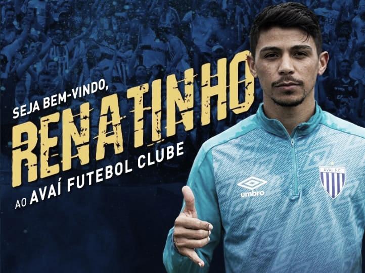 Avai anuncia contratação por empréstimo do meia Renatinho, ex-meia do CSA