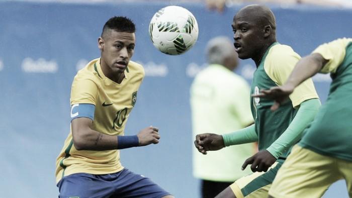 Brasil não aproveita vantagem numérica e empata sem gols com África do Sul