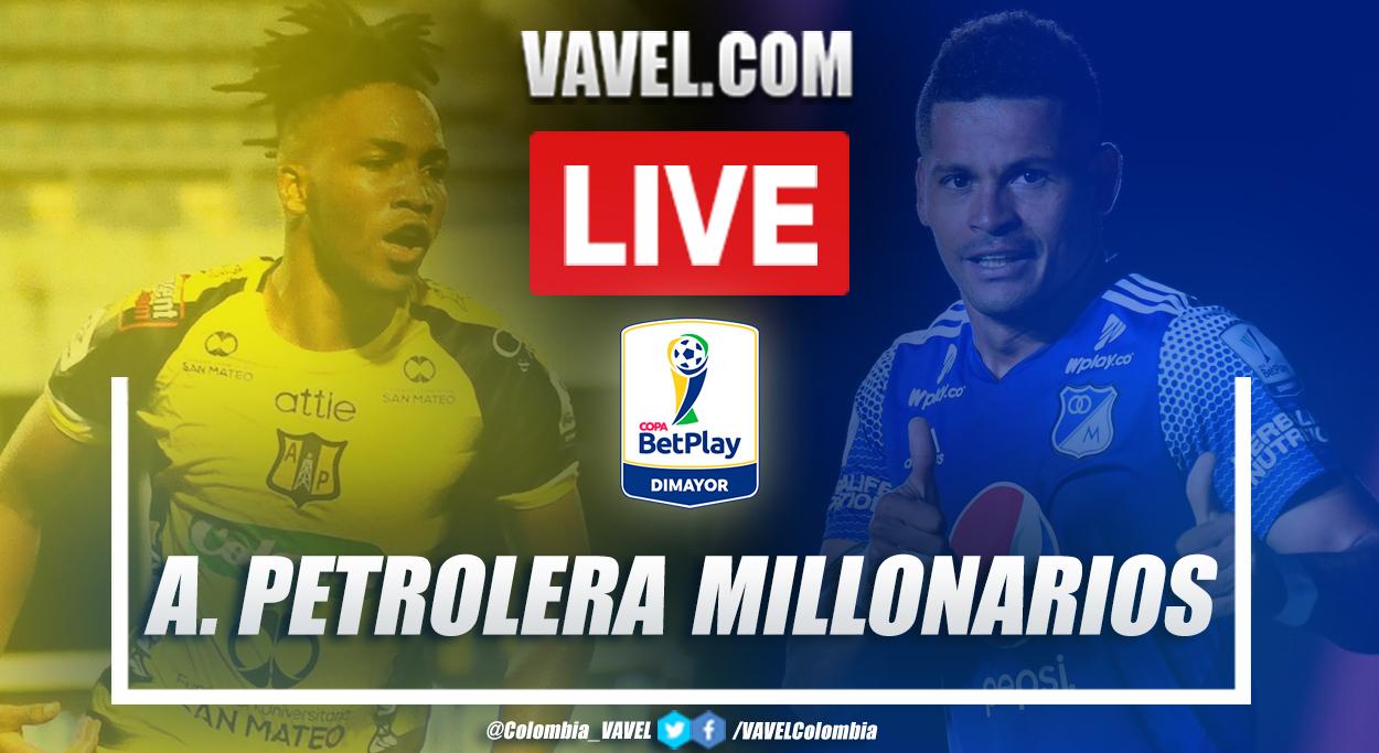 Resumen y goles Alianza Petrolera vs Millonarios (2-2)